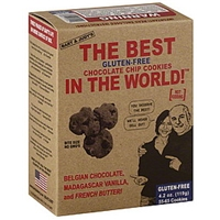 Bart & Judys Cookies Chocolate Chip, Gluten-Free, Bite Size Food Product Image