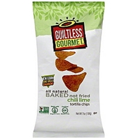 Guiltless Gourmet Tortilla Chips Chili Lime Food Product Image