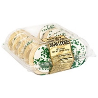 Safeway St. Pat's White Frosted Sugar Cookies Food Product Image