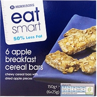 Eat Smart (Reduced) Apple Breakfast Cereal Bars  Chewy Cereal Bars With Dried Apple Pieces Food Product Image