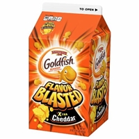 Pepperidge Farm Goldfish Flavor Blasted Xtra Cheddar Baked Snack Crackers Food Product Image