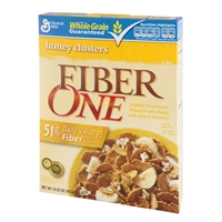 General Mills Fiber One Honey Clusters Cereal Food Product Image