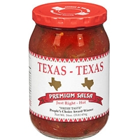 Texas - Texas Texas Salsa Hot Premium Salsa Food Product Image