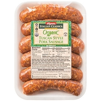 Wegmans Hot Dogs & Sausages Tuscan Style Pork Sausage Food Product Image