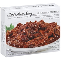 Meals Made Easy Beef Brisket In Bbq Sauce Seasoned & Sliced Brisket W/Oven Tray Food Product Image