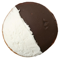 Wegmans Cookies Cookies, Half Moon With Vanilla Buttercreme & Fudge Icing Food Product Image