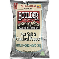 Boulder Canyon Natural Foods Potato Chips Seat Salt & Cracked Pepper Kettle Cooked Food Product Image