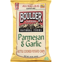 Boulder Canyon Natural Foods Kettle Cooked Potato Chips Parmesan & Garlic Food Product Image