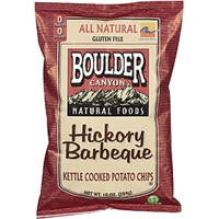 Boulder Canyon Potato Chips Hickory Barbeque Food Product Image