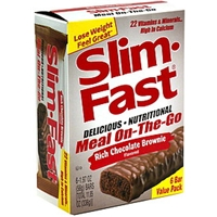 Slim-Fast Meal On-The-Go Bar Rich Chocolate Brownie, Value Pack Food Product Image