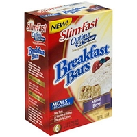 Slim-Fast Meal Bar Breakfast Bars, Mixed Berry Food Product Image