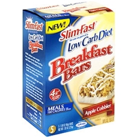 Slim-Fast Breakfast Bars Apple Cobbler Food Product Image