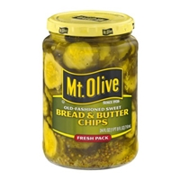 Mt. Olive Bread & Butter Chips Old-Fashioned Sweet Food Product Image