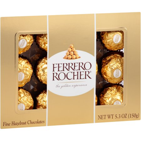 Ferrero Rocher Fine Hazelnut Chocolates Food Product Image