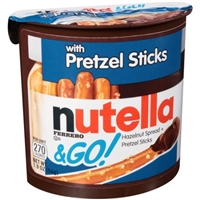 Nutella & Go! Hazelnut Spread + Pretzel Sticks Food Product Image