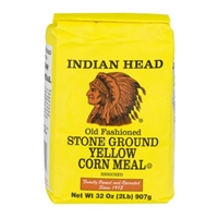 Indian Head Stone Ground Yellow Corn Meal Food Product Image