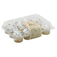 H-E-B Bakery Mini Vanilla Confetti Cupcakes Food Product Image