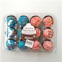 Everyday Favorites 12 Mini Chocolate Cupcakes Food Product Image