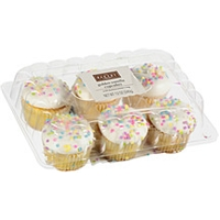 The Bakery At Walmart Cupcakes Golden Vanilla With Buttercreme Icing Food Product Image