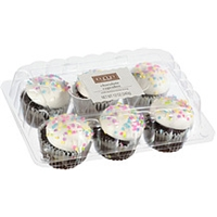 The Bakery At Walmart Cupcakes Chocolate With Buttercreme Icing Food Product Image