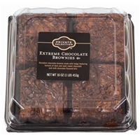 Private Selection Extreme Chocolate Brownies Food Product Image
