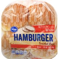 Kroger White Hamburger Buns Allergy and Ingredient Information