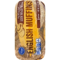 Kroger 100% Whole Wheat English Muffins Food Product Image