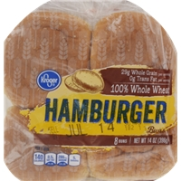 Kroger 100% Whole Wheat Hamburger Buns Food Product Image