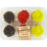 Kroger Bakery White Cupcakes with White Icing Food Product Image