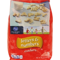 Kroger Letters & Numbers Crackers Food Product Image
