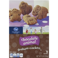 Kroger Chocolate Animal Graham Crackers Food Product Image