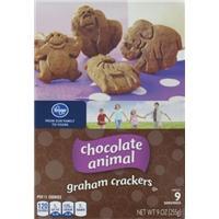 Kroger Chocolate Animal Graham Crackers Food Product Image