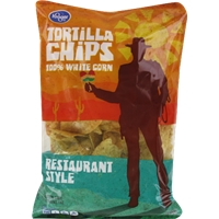 Kroger Restaurant Style Tortilla Chips Food Product Image