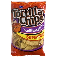 Kroger Tortilla Chips Traditional, Super Size Food Product Image