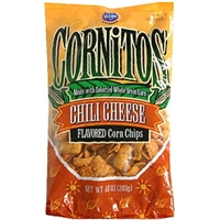 Kroger Corn Chips Cornitos, Chili Cheese Flavored Food Product Image
