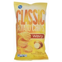 Kroger Classic Potato Chips - Wavy Food Product Image