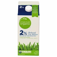 Simple Truth Organic 2% Reduced Fat Milk Food Product Image