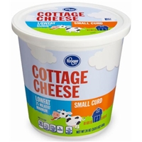 Kroger 2% Lowfat Small Curd Cottage Cheese Food Product Image
