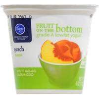 Kroger Fruit on the Bottom Peach Yogurt Food Product Image