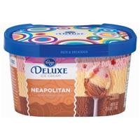 Kroger Deluxe Neapolitan Ice Cream Food Product Image