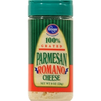 Kroger Grated Parmesan Romano Cheese Food Product Image