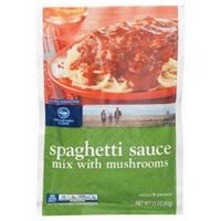 Kroger Spaghetti Sauce Mix With Mushrooms Food Product Image
