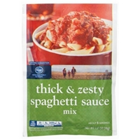 Kroger Thick & Zesty Spaghetti Sauce Mix Food Product Image