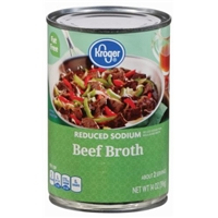 Kroger Fat Free Reduced Sodium Beef Broth Food Product Image