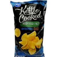 Kroger Kettle Cooked Potato Chips - Reduced Fat Food Product Image