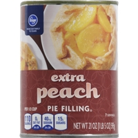Kroger Extra Peach Pie Filling Food Product Image
