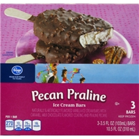 Kroger Pecan Praline Ice Cream Bars Food Product Image