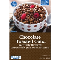 Kroger Chocolate Toasted Oats Food Product Image