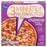 Kroger 3 Minute Microwave Combination Pizza Food Product Image