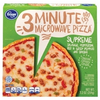 Kroger 3 Minute Microwave Supreme Pizza Food Product Image